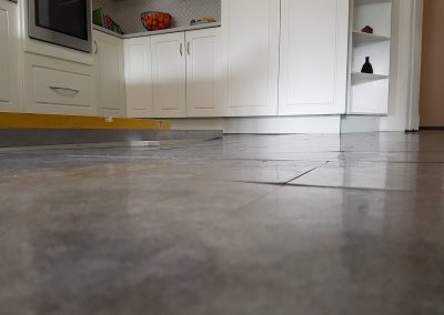 Melbourne floor level correction - Before releveling Kitchen